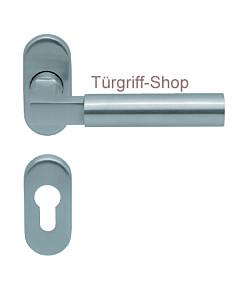 1016 (Bauhaus) Rosettengarnitur PullBloc ov. Edelstahl matt K4 S