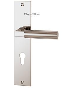 Bauhaus S Langschildgarnitur Nickel poliert von Jatec
