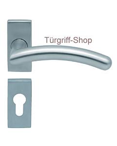 1084 (Prima) FS-Rosettengarnitur eckig PullBloc Edelstahl Scoop
