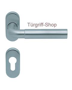 1017 (Skala) FS-Rosettengarnitur oval PullBloc Edelstahl Scoop