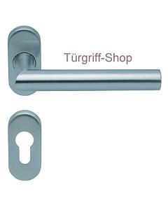 1106 (Thema) FS-Rosettengarnitur oval PullBloc Edelstahl Scoop