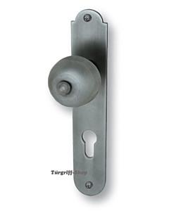 Kaprun LS Haustürgarnitur Stahlgrau Kn./Dr. 10/92 mm Südmetall