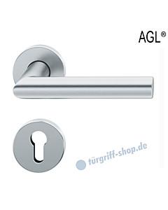 72-1076 Rosettengarnitur | Objektqualität mit Ausgleichslager AGL® Edelstahl feinmatt von FSB