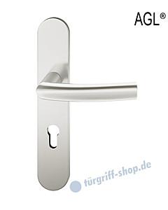 72-1107 Halbgarnitur AGL®, ovales Langschild mit Drücker 1107 in Alu F1 von FSB