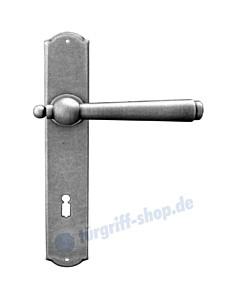 Monaco Langschildgarnitur Stahlgrau verzinkt von Galbusera