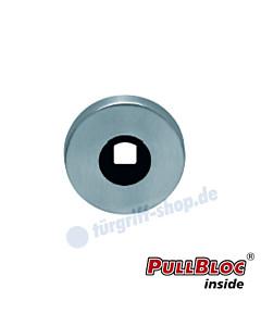 Drückerrosette einzeln PullBloc rund Ø 55mm Edelstahl-matt Scoop