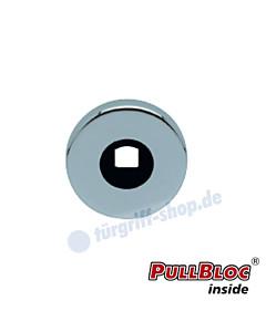Drückerrosette einzeln PullBloc rund Ø 55mm Edelstahl-poliert Scoop