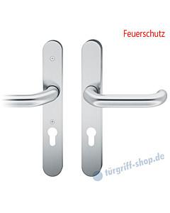 73-7530 Schutzgarnitur für Rahmentür Feuerschutz 9/72 mm Drücker/Drücker in 2 Farben von FSB