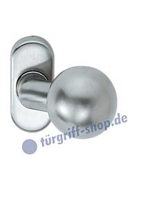 07-0846 Rahmentürknopf gekröpft auf Ovalrosette unsichtbare Verschraubung, fest oder drehbar in 2 Farben FSB