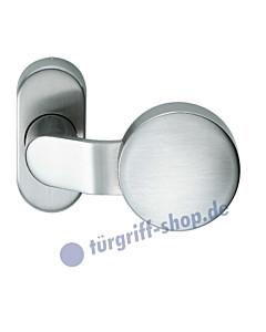 07-0854 Rahmentürknopf gekröpft auf ovaler Rahmenrosette fest oder drehbar Edelstahl feinmatt FSB