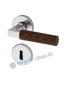 Bauhaus R373 Rosettengarnitur Chrom/Wenge von Jatec