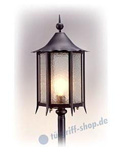 Bodenlampe antik außen 3077 Schmiedeeisen von Galbusera
