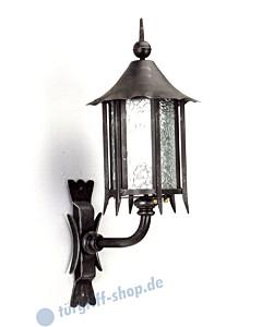 Wandlampe antik außen 3060/3061 Schmiedeeisen Galbusera
