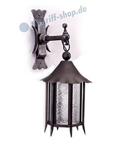 Wandlampe antik außen 3069/3070 Schmiedeeisen Galbusera