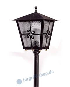 Bodenlampe antik außen 3076 Schmiedeeisen von Galbusera
