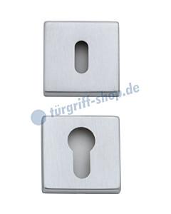 Schlüsselrosettenpaar quadratisch BB oder PZ Chrom-matt von Reguitti