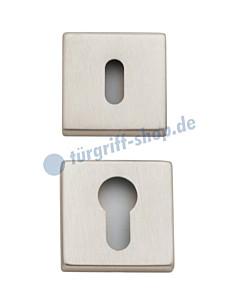 Schlüsselrosettenpaar quadratisch BB oder PZ Nickel matt von Reguitti