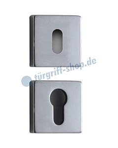 Schlüsselrosettenpaar quadratisch BB oder PZ Chrom von Reguitti