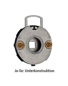 Unterkonstruktion JA-TEC f. Drückerrosette | Nocken m. Gewinde | Jatec