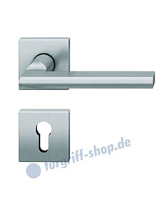 12-1035 quadratische Rosettengarnitur ASL® Edelstahl feinmatt von FSB