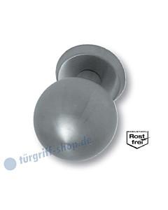 Kugelknopf auf Sicherheitsrosette zentriert feststehend oder drehbar Edelstahl matt Südmetall