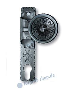 Knopf-Kurzschild gekröpft PZ Schmiedeeisen von Südmetall
