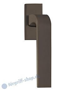 8077 Fenstergriff auf eckiger Rosette in Titanium Dunkelgrau von Scoop