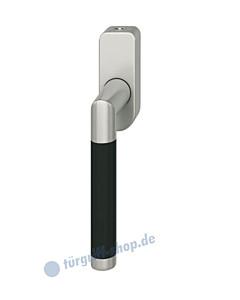 Fenstergriff FSB 34-1077 Alu naturfarbig/schwarz abschließbar