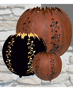 Kugel Strecki für Innen- bzw. Außenbeleuchtung gerostetes Metall