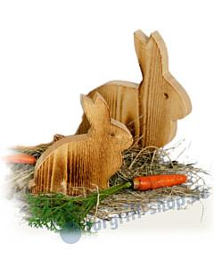Hase Gustaf in zwei Größen aus Holz