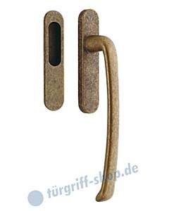 313-Priamo Hebe-/Schiebetürgriff Set mit Einlassmuschel Reguitti