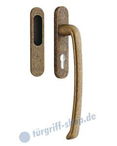 313-Priamo Hebe-/Schiebetürgriff Set PZ Einlassmuschel Reguitti