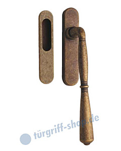 Bernini Hebe-/Schiebetürgriff Set mit Einlassmuschel JTC
