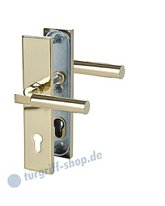 Sicura Alaska Square-LS/LS Schutzgarnitur Drücker/Drücker Robusta Gold Südmetall