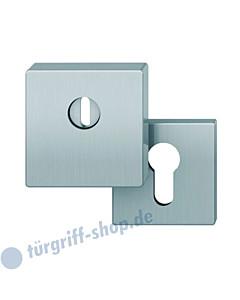 Schutzrosette 73-7397 quadratisch mit KZS und Gegenrosette Edelstahl von FSB