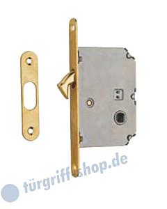 6SR Schiebetürschloss WC/BAD | 8 mm Nuss | mit Schließblech 4 Farben Reguitti