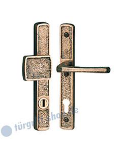 Schutzgarnitur Struktur 1 8420 Griffplatte/Drücker KZS Spitzer