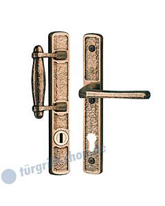 Schutzgarnitur Struktur 1 8520 Griffstangenschild / Drücker mit KZS Spitzer