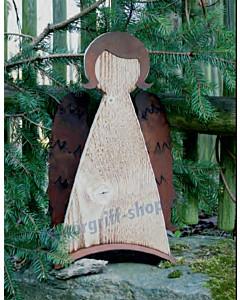 Engel Brunhilde Fichtenholz/Eisen gerostet Gartenambiente