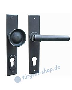 Milano LS Haustürgarnitur mit Sicherheitsrosette Hardox® Galbusera