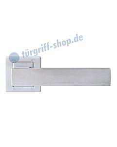 Cremona Square Rosettengarnitur Nickel matt von Griffwelt