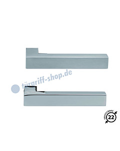 1002 (Quadra II) Drückerpaar Edelstahl matt oder poliert Scoop