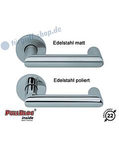 2009 Rosettengarnitur PullBloc Edelstahl oder Messing Scoop