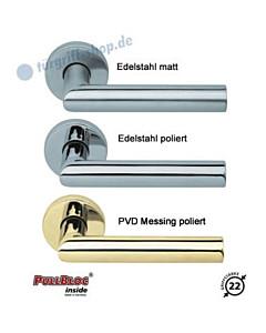 2106 Rosettengarnitur PullBloc Edelstahl o. Messing von Scoop