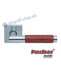 1X74 (Chiara) Merbau Quadratrosettengarnitur PullBloc Edelst. matt Scoop