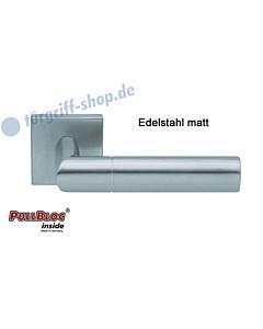 1012 Quadratrosettengarnitur Pullbloc Edelstahl matt Scoop