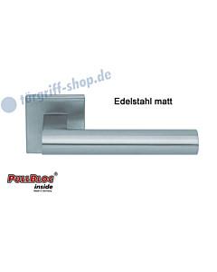 1011 Quadratrosettengarnitur Pullbloc Edelstahl matt Scoop