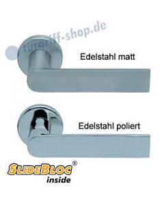 1008 (Semi) Rosettengarnitur SlideBloc Edelstahl matt oder poliert von Scoop