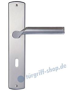 Bozen Langschildgarnitur Nickel matt | Griff Edelstahl poliert/matt Griffwelt