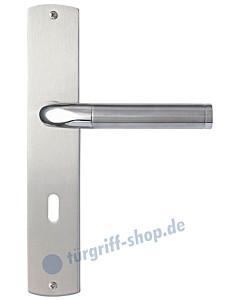 Udine Langschildgarnitur Nickel matt/Edelstahl poliert/matt Griffwelt